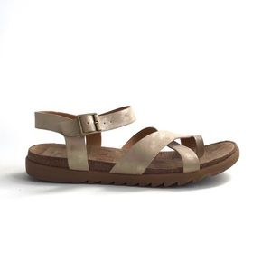 Korks by Kork Ease Lyell Gold Sandals Size 9